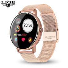 Новые женские Смарт-часы LIGE, спортивные многофункциональные часы с монитором сердечного ритма и кровяного давления, мужские водонепроницаемые часы для Android ios