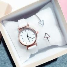 Простой стиль, женские часы, винтажные, модные, кожаный ремешок, золотые, женские наручные часы, маленький циферблат, женские часы, подарки, Relogio Feminino