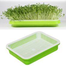 Ростки фасоли двухслойная посуда тарелка поднос для рассады пластиковая гидропонная Цветочная корзина цветочное растение для домашнего сада детские горшки