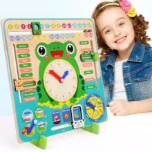 Монтессори Деревянные игрушки для малышей погода сезон календарь часы познание времени дошкольного образования обучающие игрушки для детей