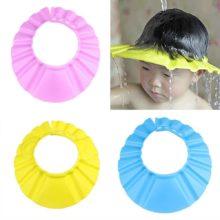 Детская шапочка для душа для мытья волос, мягкие водонепроницаемые защитные колпачки, аксессуары для детей, шапочка для душа