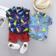 Одежда для детей; коллекция 2020 года; летняя одежда для маленьких мальчиков; футболка + шорты; комплект из 2 предметов; детская одежда; костюм для мальчиков; комплекты одежды