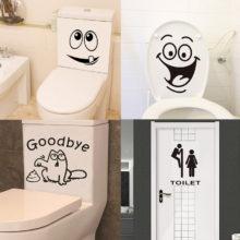 1 шт. креативные водонепроницаемые наклейки для туалетной комнаты, наклейки на стену, забавные Взрывные модели, декор для ванной комнаты, домашний декор