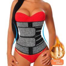 Неопрен формирователь для сауны Талии Тренажер корсет Пот пояс для похудения для женщин потеря веса компрессионный триммер для тренировки фитнеса