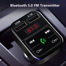 Быстрое Автомобильное зарядное устройство USB Bluetooth 5,0 FM передатчик модулятор громкой связи автомобильный комплект 3.1A быстрое зарядное устройство для телефона аудио mp3-плеер