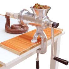 Ручная мясорубка, колбасная машина из нержавеющей стали, для приготовления сосисок, макаронных изделий, мяса, овощей, мясорубка для дома