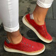 PUIMENTIUA/Модная весенняя женская Вулканизированная обувь; Весенняя женская повседневная обувь; Модные женские кроссовки на плоской подошве с перфорацией
