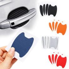 4 шт./компл. наклейка на дверь автомобиля из углеродного волокна устойчивые к царапинам покрытие авто ручка Защитная пленка внешние аксессуары для укладки
