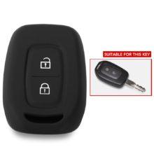 Мягкий силиконовый резиновый чехол для автомобильного ключа, чехол для Renault Duster dacia scenic master megane, 2 кнопки, чехол для дистанционного ключа