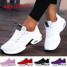 Женские кроссовки, розовые, легкие, мягкие, дышащие кроссовки с сеточкой, большие размеры