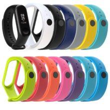 1 шт. ремешок для Xiaomi Mi Band 3 4 силиконовый браслет спортивные часы замена Смарт Браслет аксессуары для Xiaomi 11 видов цветов