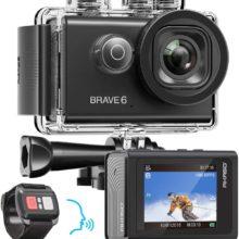 AKASO Brave 6 4K 20MP WiFi Экшн-камера Голосовое управление EIS 30 М Подводная Водонепроницаемая камера Дистанционное управление 6X Zoom Спортивная камера