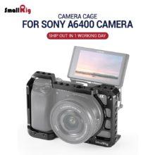 SmallRig A6400 клетка для камеры Sony Alpha A6300 / A6400 / A6500 / A6100 камера с 1/4 3/8 резьбовыми отверстиями для Vlog DIY опция 2310