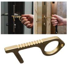 Семейный здоровый удобный портативный пресс инструмент для лифта гигиена ручная Антимикробная латунь сплав EDC дверная открывалка дверная ручка