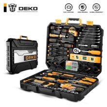 DEKO набор инструментов для ремонта, Комплект ручных инструментов для ремонта, пластиковый ящик для хранения
