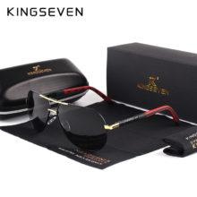 Мужские и женские винтажные Поляризованные солнцезащитные очки KINGSEVEN, Классические поляризованные солнцезащитные очки с покрытием линз, очки для вождения