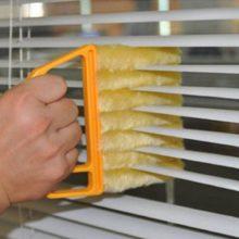 Полезная щетка для очистки окон из микрофибры Пыльник для кондиционера очиститель с моющейся венецианской тряпкой для очистки слепых лезвий