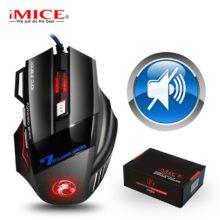 Игровая мышь Gamer 7 кнопок 5500DPI Проводная эргономичная мышь Led Mause компьютерная мышь Бесшумная USB ПК мышь с подсветкой для ноутбука