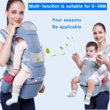 Эргономичная детская переноска, подушка для сидения спереди, кенгуру, слинг для детского путешествия, многофункциональная переноска для младенцев 0-48M