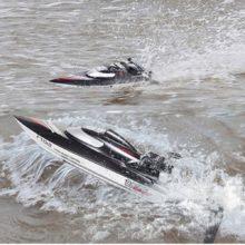 Скоростная радиоуправляемая гоночная лодка FeiLun FT012, бесщеточный, быстро восстанавливающийся режим 45 км/ч, VS FT011 FT010 FT009