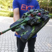 Радиоуправляемый большой Танк зарядное устройство боевой Запуск Беговая гусеничная модель танка для мальчиков играть военные игрушки для детей рождественские подарки
