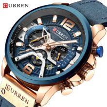 Мужские часы CURREN Брендовые мужские спортивные часы мужские кварцевые часы мужские повседневные военные водонепроницаемые наручные часы relogio masculino