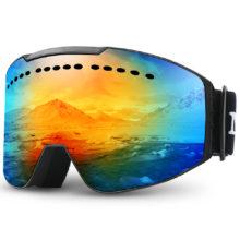 MAXJULI лыжные очки с защитой от ультрафиолета, противотуманные снежные очки для мужчин и женщин, Молодежные Очки для плавания M2
