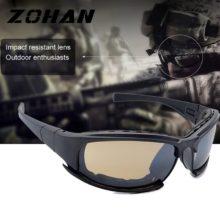 Военные очки, пуленепробиваемые армейские поляризационные солнцезащитные очки, 4 линзы, Охотничья съемка, страйкбольные очки, уличная спортивная УФ-защита