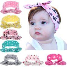 Повязка на голову для маленьких девочек; Аксессуары для волос для младенцев; Банты с заячьими ушками и бантиками; Головной убор для новорожденных; Подарочная лента для малышей
