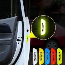 4 шт./компл. наклейки на дверь автомобиля Сделай Сам открывающаяся светоотражающая лента Предупреждение ющая отметка Светоотражающая открытая заметка Аксессуары для велосипеда внешний вид