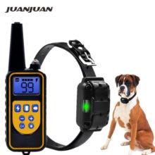 Тренировочный ошейник для собак, электрический, водонепроницаемый, перезаряжаемый ошейник-антилай с дистанционным управлением и ЖК-дисплеем для всех размеров