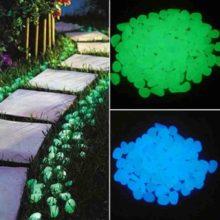 500 шт светится в темноте Сад светящиеся гальки для дорожек растения аквариумный Декор светящиеся камни садовое украшение