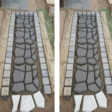Пресс-форма для приготовления бетонных дорожек, многоразовая, прочная, для садового газона NDS66