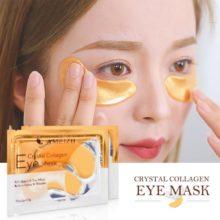 1 пара = 2 шт 24 к Золотая кристальная коллагеновая маска для глаз коллагеновая кристальная маска для глаз гелевые патчи для глаз для мешков для глаз удаление темных кругов TSLM1