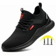 WENYUJH неразрушаемая обувь для мужчин, безопасная рабочая обувь со стальным носком, устойчивые к проколу ботинки, легкие дышащие кроссовки, Прямая поставка