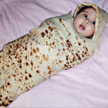 Высокое качество буррито детское одеяло мука тортилья пеленка Одеяло пеленка для сна обернуть шляпу 8.4gg