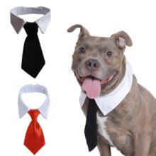 Строгий галстук для смокинга с бабочкой для питомца собаки кошки, черный/красный галстук для маленьких средних собак и кошек, аксессуары для домашних животных на свадьбу, праздник, подарок