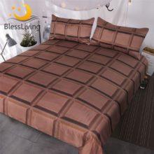 Blesslive Шоколадный Бар постельные принадлежности 3 шт супер мягкие забавные кровати наборы 3d реалистичный гигантский шоколад пододеяльник для мальчиков и девочек