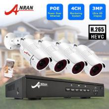 Система видеонаблюдения, 3 Мп камера видеонаблюдения, POE NVR, комплект, Onvif камера безопасности, HD IP камера, водонепроницаемая камера для улицы ANRAN