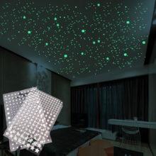202 шт./компл 3D пузырь форме звезды, которая светится в горошек стены Стикеры детской комнаты Спальня наклейка для домашнего декора светится в темноте DIY Стикеры s наклейки на стену для дома