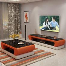 Натуральная стеклянная верхняя кожаная подставка для телевизора, современная мебель для гостиной, дома, телевизора, led монитор, подставка для телевизора, шкаф для телевизора, стол для телевизора