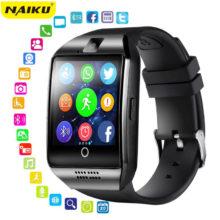Смарт-часы NAIKU с камерой, Q18 Bluetooth Smartwatch SIM TF слот для карт фитнес-трекер спортивные часы для Android