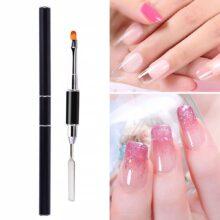 Полигель-кисть с двойным концом, ручка для дизайна ногтей, инструмент для украшения, инструменты для дизайна ногтей с УФ-гелем