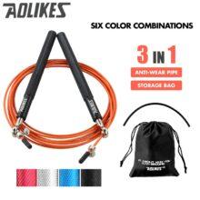 Профессиональная скакалка для ММА, скоростная скакалка для тренировок кроссфит с сумкой для переноски, запасным шнуром