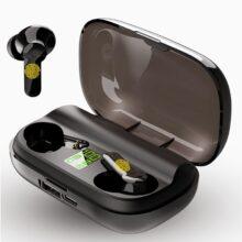 Bluetooth наушники с сенсорным управлением, беспроводная гарнитура для iPhone WTS, 5,0, 2200 мАч, аккумулятор, поддерживает мобильный телефон, зарядка