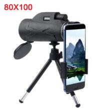 Профессиональный телескоп 80х100 HD с ночным видением, монокуляр, оптический зум, монокль для снайперской охоты, прицел для винтовки
