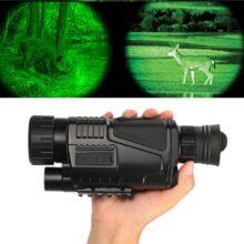 Монокуляр ночного видения охотничий прицел перезаряжаемый 5X40 HD BAK4 регулируемый фокус 200 М Инфракрасная камера Цифровое видео записывающее устройство