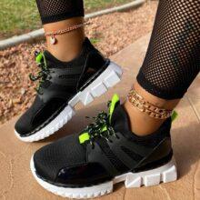 Новинка; Женская повседневная обувь; Дышащая обувь для тенниса; Женская обувь на шнуровке; Женская Удобная Обувь из сетчатого материала на платформе; Женские кроссовки; Zapatos Mujer