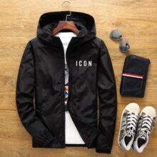 Новинка, мужская повседневная куртка-бомбер с капюшоном, весна-осень, хип-хоп ветровка размера плюс, спортивная куртка на молнии, мужская куртка
