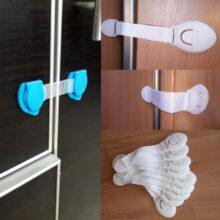 10 шт./лот, замки для дверей шкафа, шкафа, туалета, защитные замки для детей, пластиковые замки для безопасности детей